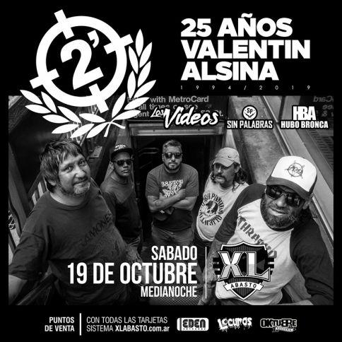 El grupo de Punk Rock 2 Minutos desembarca en Córdoba