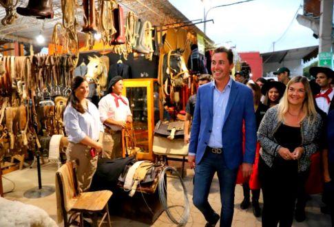 Calvo inauguró obras en el Festival de Jesús María