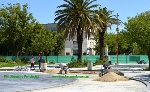 La Plaza Sarmiento va tomando nuevo formato