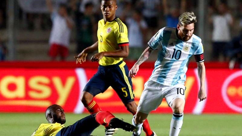 Argentina lo ganaba y Colombia lo empató sobre la hora