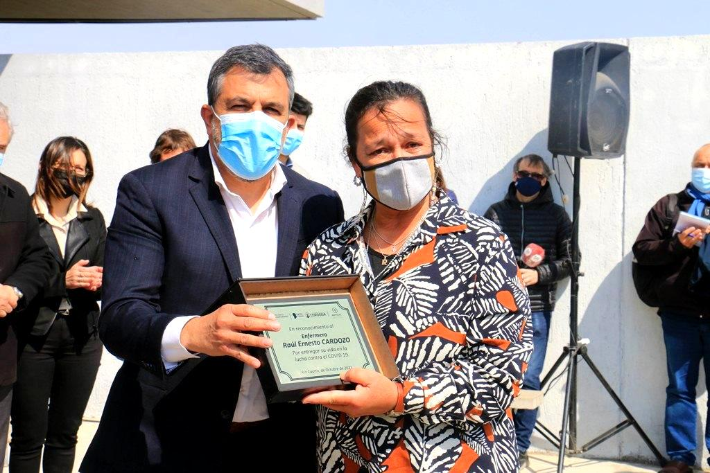 Río Cuarto: La Provincia homenajeó a enfermeros fallecidos en pandemia